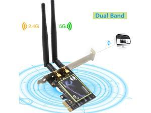 600Mbps PCI-E Wireless WiFi Card 2.4G/5G Dual Band Network Adapter For Desktop
