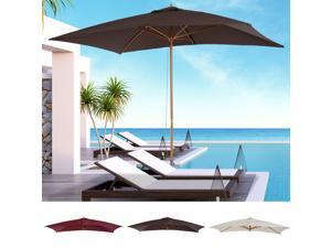 Wooden Market Po Sun Umbrella Garden Parasol Rectangle Po Outdoor