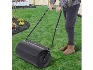 46L Heavy Duty Push/Tow Lawn Roller Filled w/ Water or Sand Black