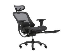 Luxury Ergonomic Office Chair with Headrest For Home - With Footrest