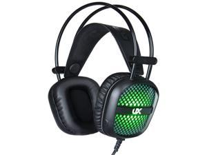 Gaming Headset 7 Color LED Backlight 3.5mm Stereo Over-Ear Headphones with Mic