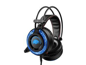 USB Wired Gaming Stereo Headset Wired Over Ear Gaming Noise Cancelling LED