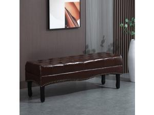 Multipurpose Entryway Tufted Bench Upholstered Ottoman Shoe Stool Bedroom