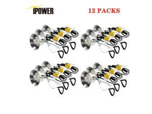 12-Pack 60W Clamp Lamp Light 5.5-Inch Reflector 6 Feet Cord E26