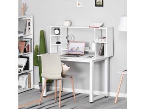 Simple Computer Desk Storage Shelf Free-Standing Workston Home Office