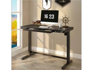 Sit-Stand Height Adjustable Electric Frame Included Table Top Black- PrimeCabl