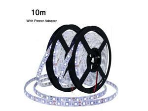 Flexible LED Light Strip 600 6000K Unit LEDs Waterproof Light  Power Adapter