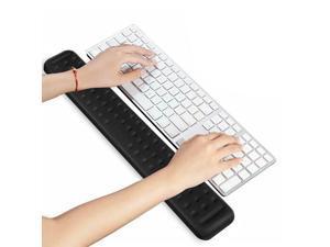 Comfy Keyboard Wrist Rest Pad, Memory Foam, Black - 440mm x 67mm x 18mm