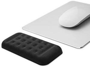 Memory Foam Padded Mouse Wrist Rest, Black, 130mm x 67mm x 15mm For Home Office