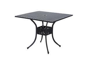 Clearance Sale   Po Outdoor Square Cast Aluminum Outdoor Dining Table