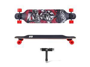 "® Pro 41"" X 9.5"" Longboard Skateboard Cruiser Through downhill Complete Gift"