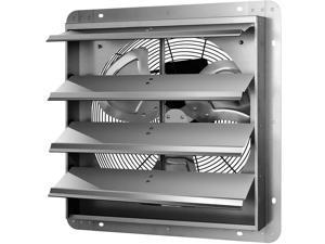 16 Inch Shutter Exhaust Fan Aluminum High Speed 1550RPM 1200CFM Silver