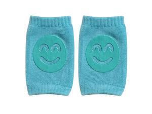 1 Pair Cotton Newborn Baby Smile Face Knee Guard Toddler Crawling Knee Pads CA