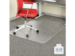 Unbreakable Heavy Duty Polycarbonate Ships Flat Office Chair Mat Lip Carpeting