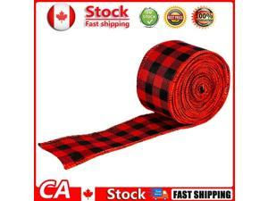 2m Christmas Lattice Ribbon Gift Packing DIY Wrapping Strip Red Black CA