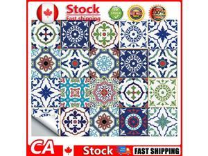 20pcs Retro Self-adhesive Decal Waterproof Tile Stickers 15x15cm ET108 CA