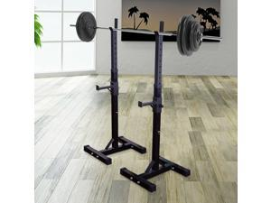Soozier Squat Rack Weight Liftting Stand Fitness Weight Strength Exercise