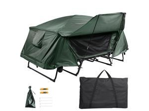 Yescom Double Tent Cot Folding Portable Waterproof Camping Hiking Bed Rain Fly Bag