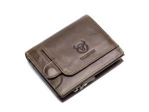 Men's Wallet First Layer Leather Card Case Driver's License Coin Purse 4.5'' * 3.7'' * 1.2'',Brown