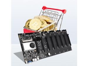 BTC-37 Miner Motherboard Integrated CPU Support 8 Video Card Slot DDR3 Memory Type VGA HDMI PCIE 16X Bitcoin Motherboard