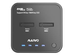MAIWO K3016P M.2 SSD Duplicator Base NVMe Protocol Copy + Read Write USB-C Support 2242 2260 2280 22110 SSD