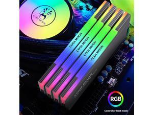 COOLMOON CR-D134S 5V 3PIN ARGB RAM Heatsink Heat Spreader Cooler Desktop PC Computer Addressable RGB Memory Cooling Vest Grey