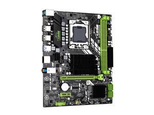 DDR3 LGA 1366 Gaming Motherboard, X58M 3.0 mATX Desktop Motherboard Support AMD RX series with USB 3.0 Graphics MB