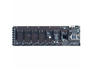 B75 ETH Mining Motherboard LGA 1155 DDR3 24Pin Power Support 8 Video Cards BTC Motherboard Eight Cards Multi-Graphics Slot 65mm Spacing