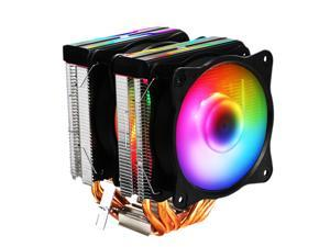 ARGB CPU Cooler, 6 Copper Heatpipes, 92x92x25mm PWM Fan for LGA775/115X/1366/AM4/AM3/AM2/AM1/940/939/754