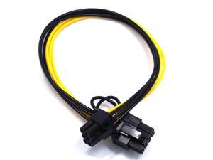 5Pcs Power Cable 6Pin Male to 6+2Pin Male Adapter Board Power Cord 32cm Conversion Line