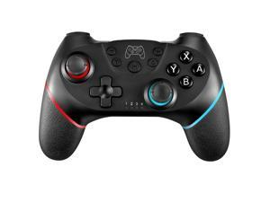 Left Red, Wireless Switch Controller for Nintendo Switch, Supports Gyro Six-Axis, Adjustable Turbo and Dual Vibration (Non Offical)
