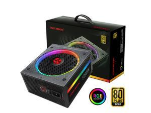 COOLMOON ATX Power Supply 1050W Fully Modular 80+ Gold Certified with Addressable RGB Light - Vairous Color Mode, RGB-1050W