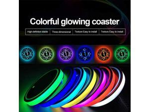 2pcs LED Car Cup Holder Lights, 7 Colors Changing USB Charging Mat Luminescent Cup Pad, Auto Interior Lights Lamp Decoration  (Sagittarius)