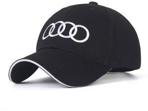 For audi Embroidered Logo Solid Color Adjustable Baseball Caps for Men and Women (Audi)