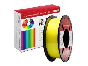 XTZL3D| PLA Material Printing Filament for 3D Printer, Yellow,1kg, 1.75mm