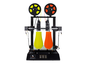 XTZL3D |  Independent  Dual Extruder 3D Printer with 4.3'' Touch Color Screen and UL Certified Power Supply Support PVA TPU ABS PLA,Direct Feed FDM 3D Printer 11.8''x11.8''x13.8''