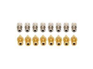MK8 3D Printer Brass | Stainless Steel Nozzle, 16pcs/Set