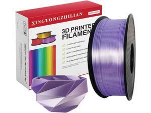 XTZL3D | Silk PLA Filament for 3D Printer, Sky Purple,1kg, 1.75mm