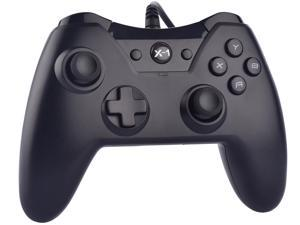 Wired Controller for Microsoft Xbox ONE Gaming Console with Dual Vibration (Black)