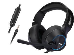 NUBWO Gaming Headset for PS4, Xbox One, PC Headset w/Surround Sound, Noise Canceling Over Ear Headphones with Mic Light, Compatible with PS5, PS4, Xbox One, Switch, PC, PS3, Mac, Laptop