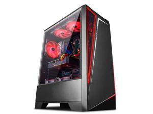IPASON - Gaming Desktop - Ryzen5 2600 up to 3.9GHz - RX580 Upgrade RX590 8GB Graphics Card  - 8GB DDR4 3200MHz - 512GB SSD - 550W Power supply - Windows 10 home - RGB FANS - Gaming PC