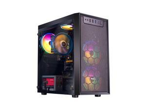 IPASON - Gaming Desktop - 200GE (2 Core 4 Thread up to 3.2GHz) - 8GB DDR4 2666MHz- 120GB SSD - 550W PSU -Windows 10 home - RGB Fans - Gaming PC