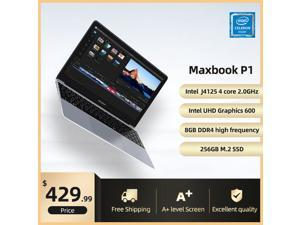 """IPASON Maxbook - P1 IPS 15.6"""" Laptop FHD Intel J4125 4 Core up to 2.7GHz 8GB DDR4 RAM 256GB SSD Windows 10 home Notebook Computer Ultra Thin and Light Notebook Business Office Student Ultrabook"""