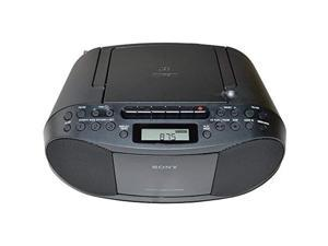 Sony Compact Portable Stereo Sound System Boombox with MP3 CD Player, Digital Tuner AM/FM Radio, Tape Cassette Recorder, Headphone Output  and  3.5mm Audio Auxiliary input Jack (AUXCD-1Sony)