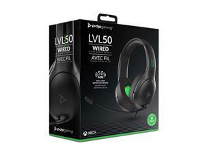 PDP Xbox One LVL50 Wired Stereo Gaming Headset, 048-124-NA-BK (048-124-NA-BK)