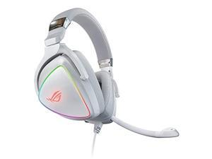 ASUS RGB Gaming Headset ROG Delta | Hi-Res ESS Quad-DAC, Circular RBG Lighting Effect | USB-C Connector for PCs, Consoles, and Mobile Gaming | Gaming Headphones with Detachable Mic (ROGDeltaWhite)