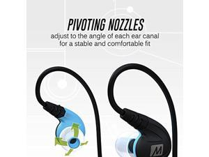 MEE audio X8 Secure-Fit Stereo Bluetooth Wireless Sports In-Ear Headphones (Blue) (EP-X8-BL-MEE)