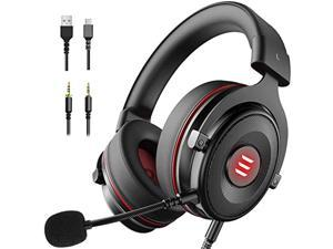 EKSA E900 USB Gaming Headset-Xbox One Headset with 7.1 Surround Sound, PS4/PS5 Headset Noise Cancelling Headset with Mic and LED Light, Compatible with PC, PS4, PS5, Xbox One Contro (E900-HEIHONG0426)