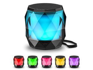 LED Portable Bluetooth Speaker,LFS Night Light Wireless Speaker,Magnetic Mini Speaker, 7 Color LED Auto-Changing,Wireless Stereo Pairing(TWS)/Handsfree Supported (LFS196)