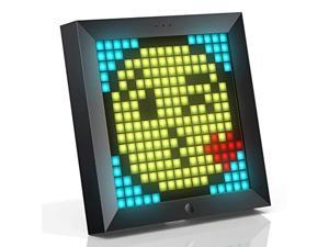 Divoom Pixoo Pixel Art Digital Frame with App Controlled 16X16 LED Screen (simultaneously connect up to 4pcs) Black (SB-122)